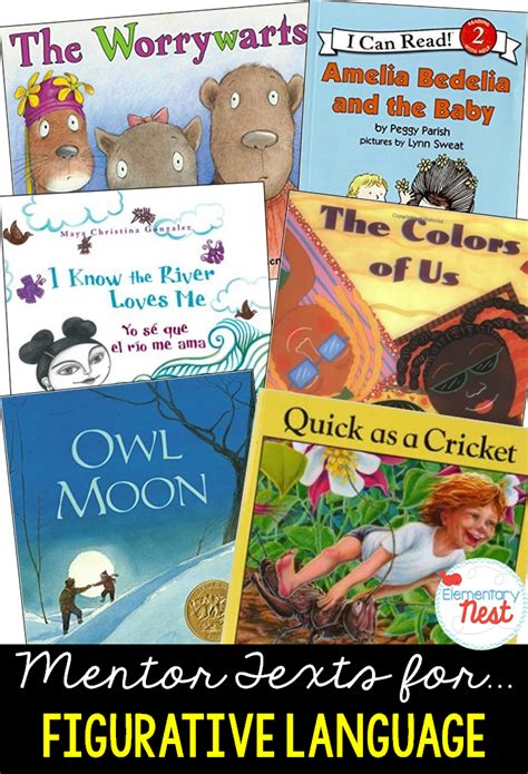 picture books with figurative language second grade nest primary mentor texts for common
