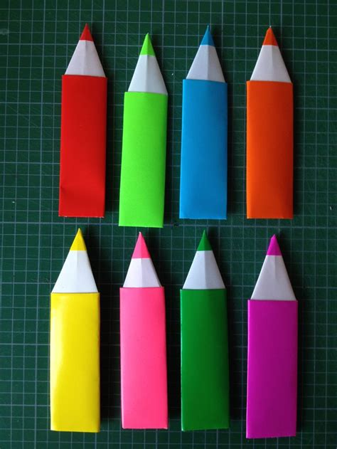 How To Make A Origami Pencil - origami pencil bookmarks made by me
