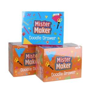 mr maker doodle drawer 3 x mister maker doodle drawer kits buyers note