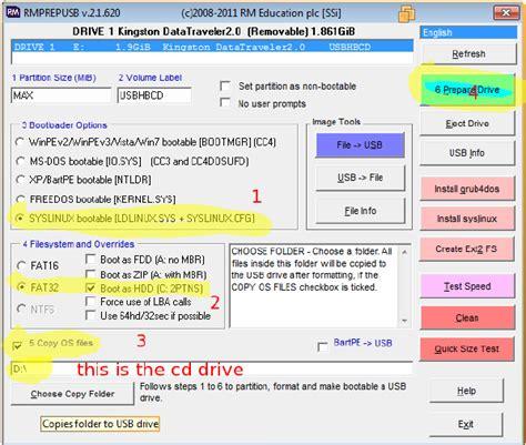membuat hiren s boot usb flashdisk cara membuat boot usb flash disk dengan hbcd hiren s