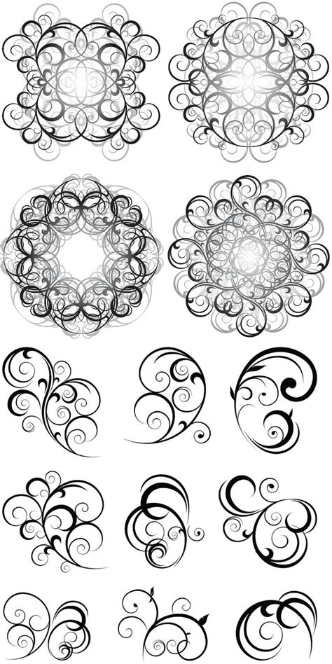 swirl pattern in nature swirl nature ornaments vector embroidery patterns