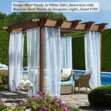 outdoor patio curtain escape outdoor sheer grommet panels
