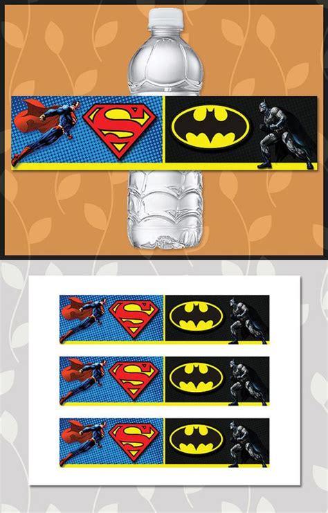 Drink Bottle Batman batman superman water bottle label batman superman