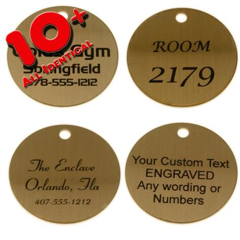 lacquered brass lacquered brass tag 1 1 2 inch custom engraved