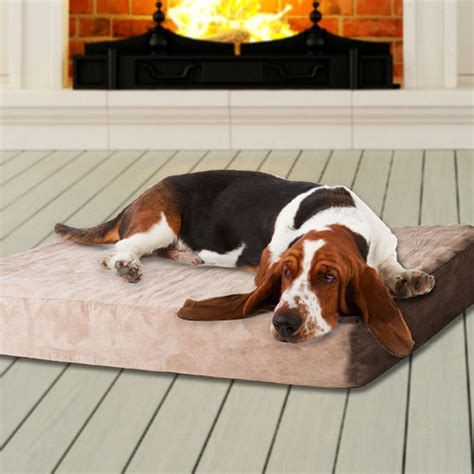 dog bed removable cover paw memory foam dog bed with removable cover brown