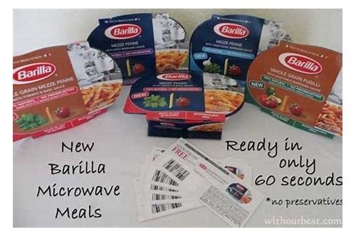 barilla microwave meals coupon