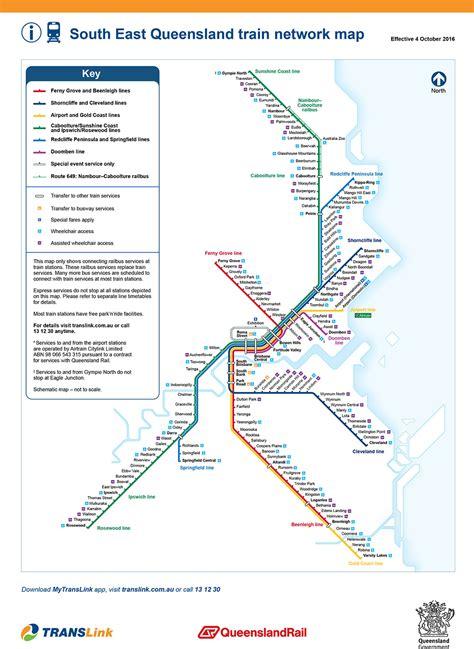 map us rail network redcliffe peninsula railway line