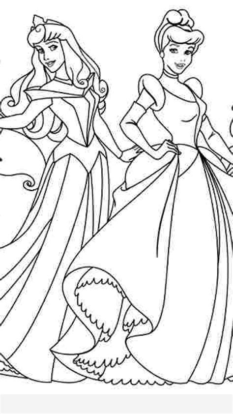 Coloring Pages Disney Princesses Together Timykids All Disney Princesses Together Coloring Pages