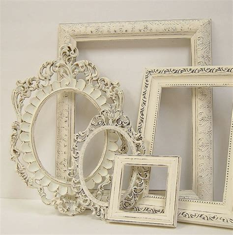 shabby chic white picture frames picture frames shabby chic picture frame set ornate frames