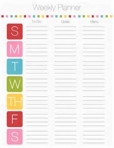 week organizer template 6 printable weekly planner 2014 ganttchart template