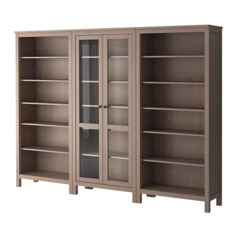 ikea hemnes bookcase gray brown hemnes glass door cabinet with 4 drawers gray brown ikea