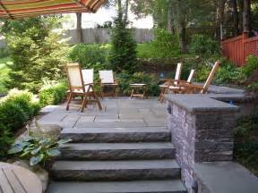 backyard stone patio traditional patio boston by