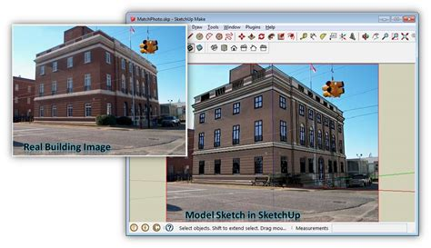 tutorial sketchup photo match sketch your model with match photo cemtech
