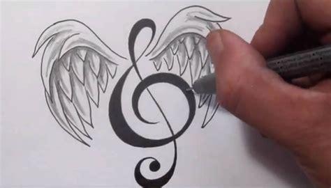 treble clef tattoo design tattoos designing a treble clef with wings