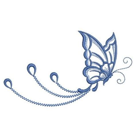 swirl butterfly embroidery designs machine embroidery