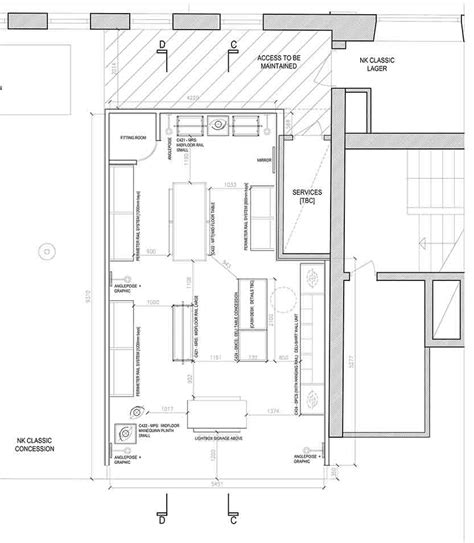 clothing store floor plan layout d237 ben sherman