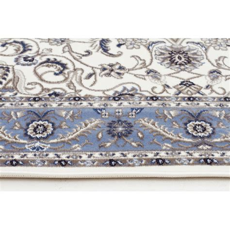 Rug With Border by Network Rugs New Classic Rug White With Blue Border Ebay