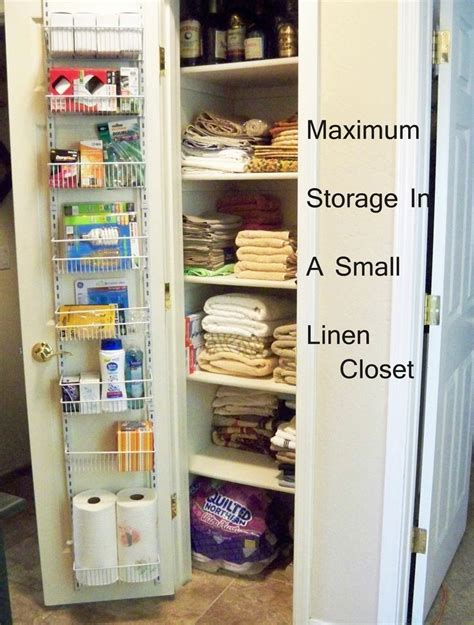 No Linen Closet Solution by 1000 Ideas About Small Linen Closets On