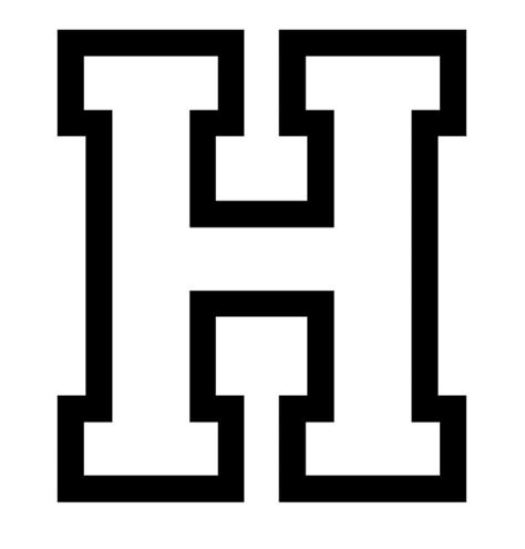 Letter h coloring pages to download and print for free