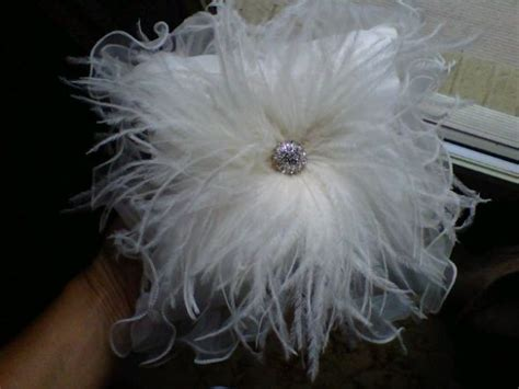 Diy Ostrich Pillow by Ostrich Feather Ring Bearer Pillow Weddingbee Photo