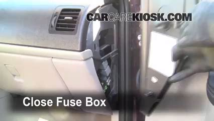 interior fuse box location: 2005 2008 chevrolet uplander