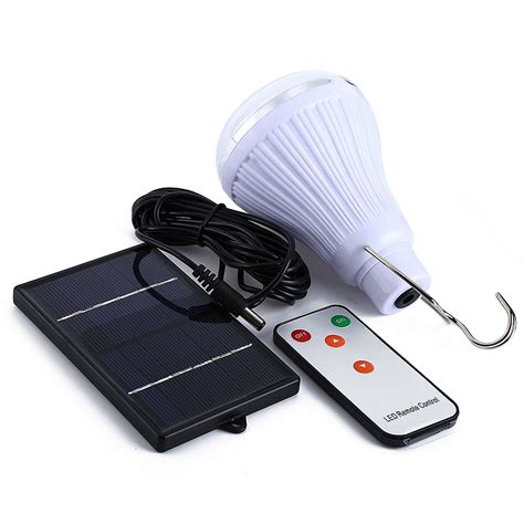 remote solar light indoor dimmable dc6v 20 led 2 5w remote solar