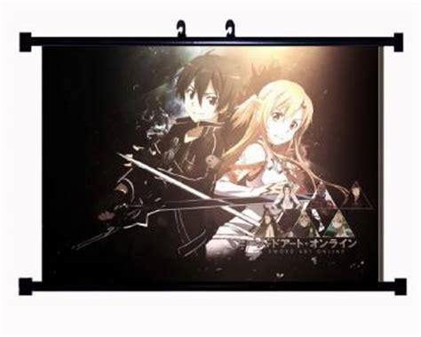 sword wall poster scroll home home decor anime poster wall scroll sword quot sao quot 152515 kirito asuna ebay