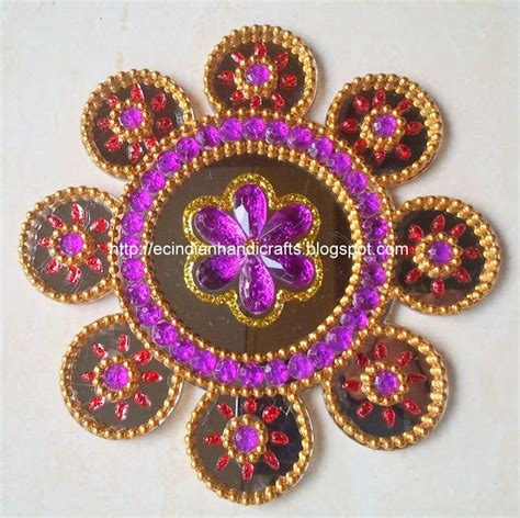 Handmade Rangoli Designs - 1000 images about kundan rangoli on