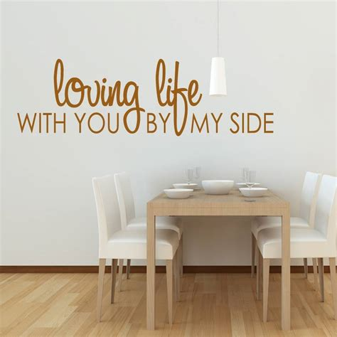 Notonthehighstreet Wall Stickers Loving Life Wall Sticker By Wall Art