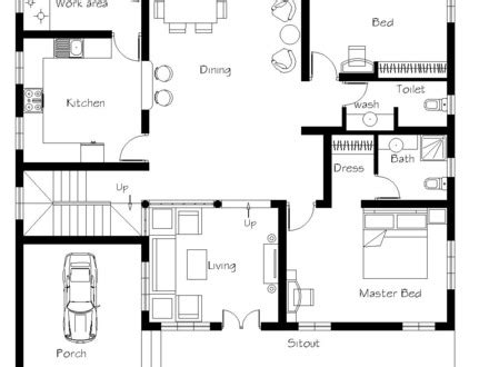 3 bedroom house with garage 3 bedroom house floor plans