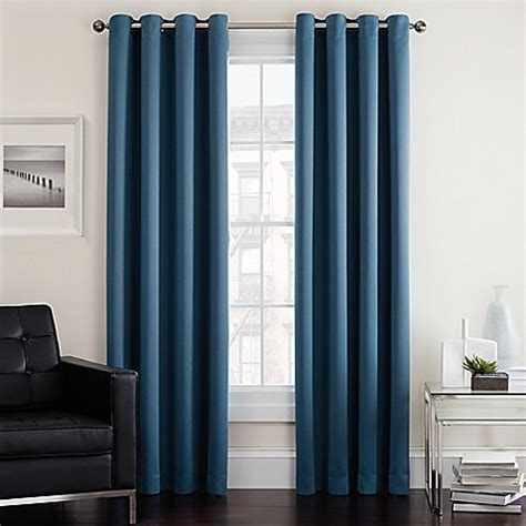 curtains images twilight room darkening grommet window curtain panel bed