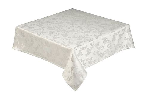 jacobean jacquard silver christmas tablecloth by easycare