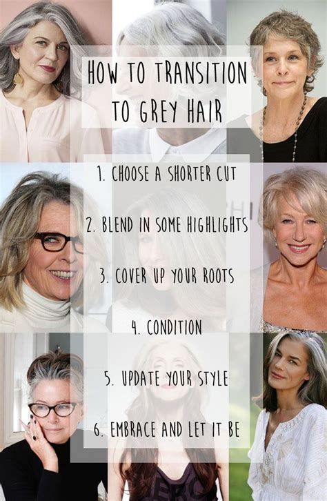 how to transition to gray hair from dyed ditch the dye and embrace the grey hairstyle ideas