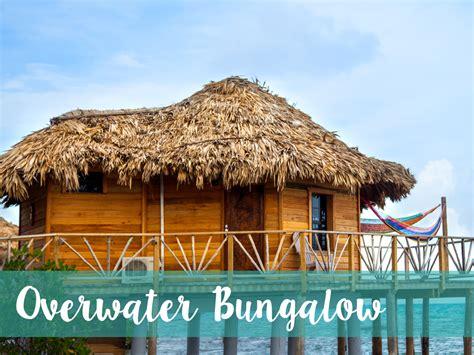belize overwater bungalow belize resort thatch caye resort island