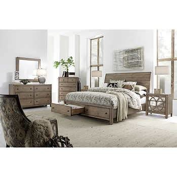 california king storage bedroom sets audrey 6 piece cal king storage bedroom set