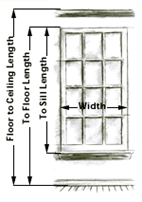 how do you measure curtains for windows curtain information curtain sizing