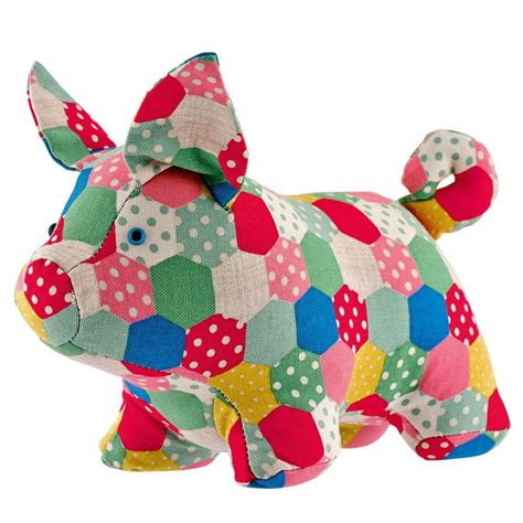 Patchwork Door Stop Pattern - patchwork spot pig doorstop furnishing cath kidston