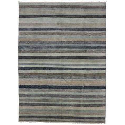 transitional area rugs sale transitional area rug with stripes and grass cloth pattern for sale at 1stdibs