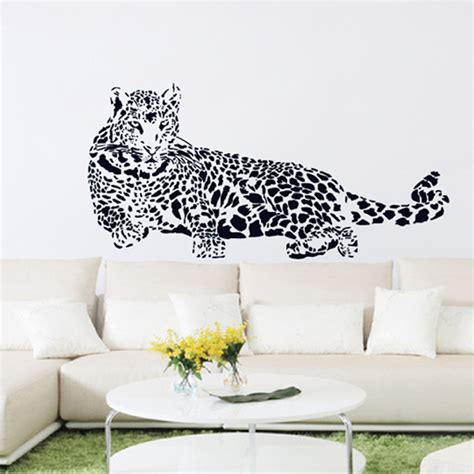 animal wall stickers for bedrooms large wall stickers animal the cheetah 110 52cm removable