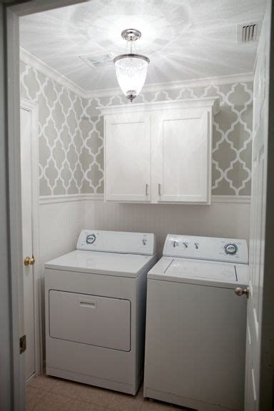 Wallpaper Wainscoting Ideas by Laundry Room With Wallpaper Wainscoting The After Photo