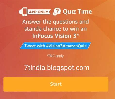 amazon quiz infocus full answers amazon infocus vision 3 quiz on 18th