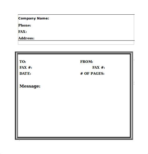 sample fax cover sheet  word