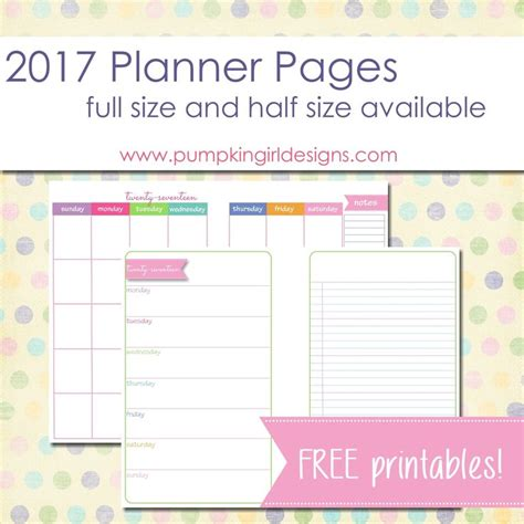 printable half sheet planner pages best 20 printable planner pages ideas on pinterest