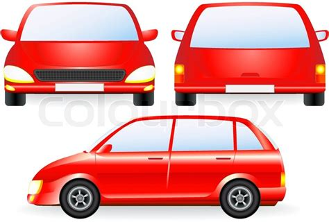 Auto Front by Isolated Car Silhouette Front And Profile Icon
