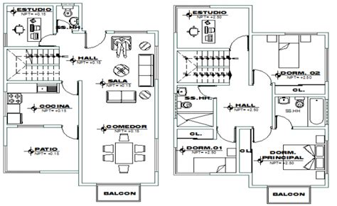 second floor plans and second floor layout plan of modern house dwg file