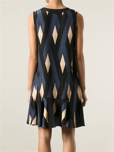 diamond pattern on clothes marc by marc jacobs diamond pattern dress in blue lyst