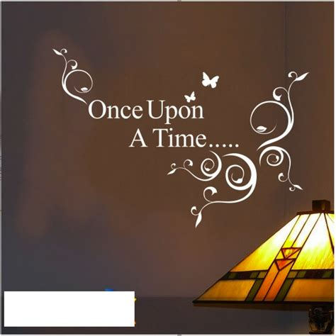 Kitchen Quotes Wall Stickers once upon a time wall quote