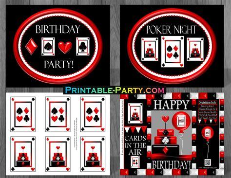 printable casino party decorations printable casino night party supplies casino birthday