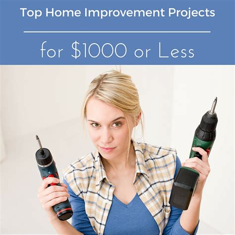 top home improvement projects for 00 or less