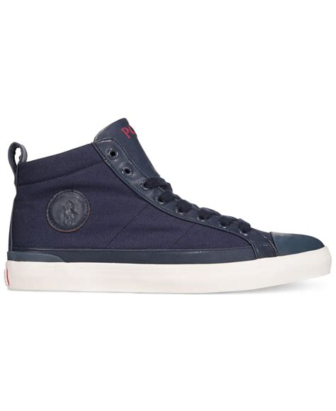 polo sneakers polo ralph clarke canvas sneakers in blue for